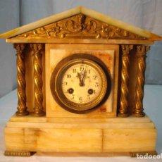 Relojes de carga manual: RELOJ MESA MARMOL BLANCO JASPEADO. Lote 192256823