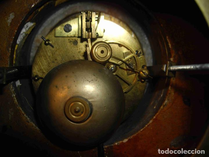 Relojes de carga manual: RELOJ MESA MARMOL BLANCO JASPEADO - Foto 14 - 192256823