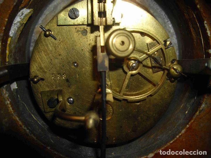Relojes de carga manual: RELOJ MESA MARMOL BLANCO JASPEADO - Foto 16 - 192256823