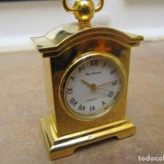 Relojes de carga manual: RELOJ DE COLECCIÓN EN MINIATURA DE SOBREMESA CON DISEÑO ANTIGUO. Lote 192754945