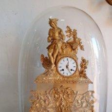 Relojes de carga manual: GRAN RELOJ DE BRONCE AL MERCURIO CON FANAL. Lote 192960272