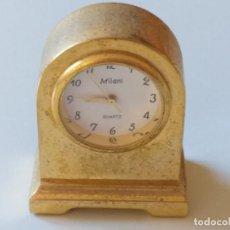 Relojes de carga manual: RELOJ DE COLECCION EN MINIATURA RELOJ DE SOBREMESA. MARCA MILANI. QUARTZ . Lote 193667017
