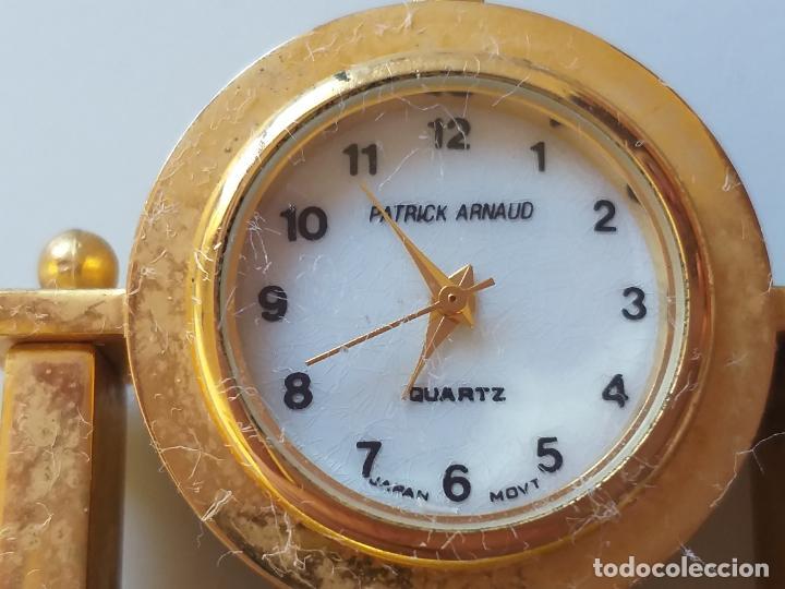 Relojes de carga manual: RELOJ DE COLECCION EN MINIATURA RELOJ DE SOBREMESA. MARCA Patrick Arnaud. QUARTZ - Foto 4 - 193667147