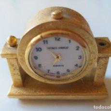 Relojes de carga manual: RELOJ DE COLECCION EN MINIATURA RELOJ DE SOBREMESA. MARCA PATRICK ARNAUD. QUARTZ . Lote 193667147