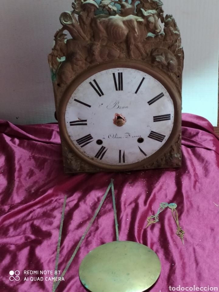 ANTIGUO RELOJ MOREZ, PRECIOSO FRONTAL Y CAMPANA GIGANTE (Relojes - Sobremesa Carga Manual)