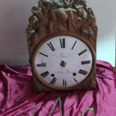 Relojes de carga manual: ANTIGUO RELOJ MOREZ, PRECIOSO FRONTAL Y CAMPANA GIGANTE. Lote 194218661