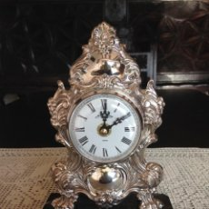 Relojes de carga manual: RELOJ DE SOBREMESA EN PLATA DE LEY. Lote 194311780