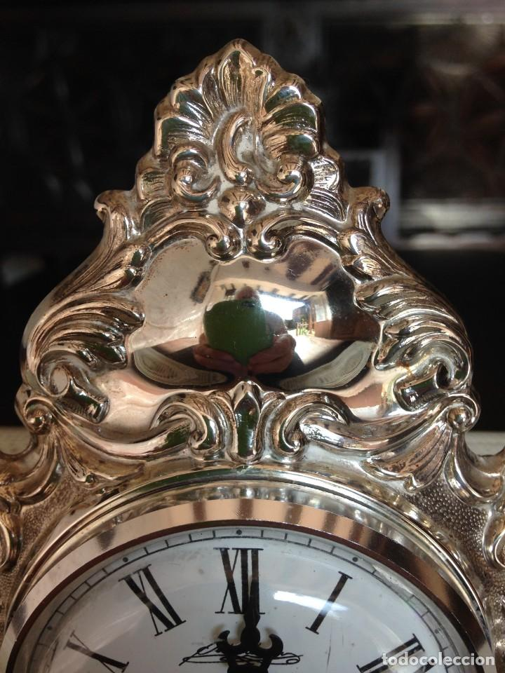 Relojes de carga manual: RELOJ DE SOBREMESA EN PLATA DE LEY - Foto 3 - 194311780