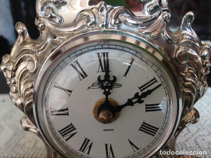 Relojes de carga manual: RELOJ DE SOBREMESA EN PLATA DE LEY - Foto 4 - 194311780