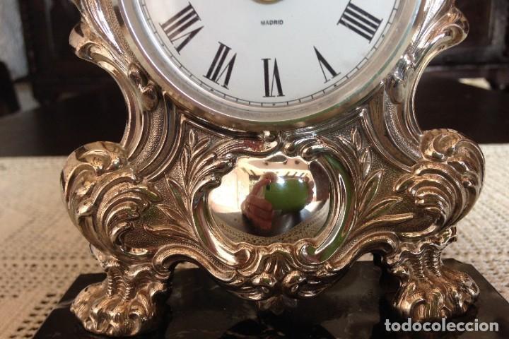 Relojes de carga manual: RELOJ DE SOBREMESA EN PLATA DE LEY - Foto 5 - 194311780