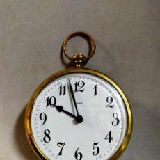 Relojes de carga manual: RELOJ DE SOBREMESA CARGA MANUAL, IDEA, WEST GERMANY, EN LATON DORADO. Lote 194396890
