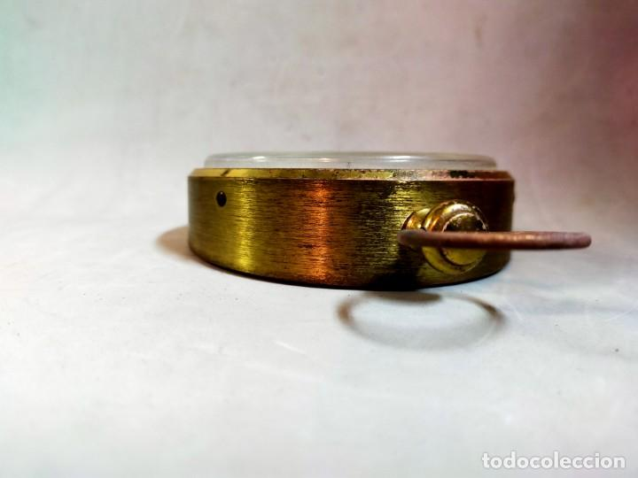 Relojes de carga manual: RELOJ DE SOBREMESA CARGA MANUAL, IDEA, WEST GERMANY, EN LATON DORADO - Foto 4 - 194396890