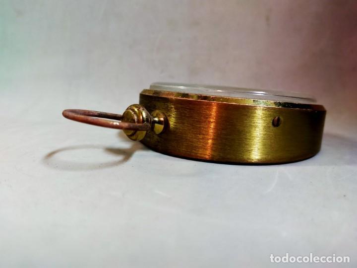 Relojes de carga manual: RELOJ DE SOBREMESA CARGA MANUAL, IDEA, WEST GERMANY, EN LATON DORADO - Foto 5 - 194396890