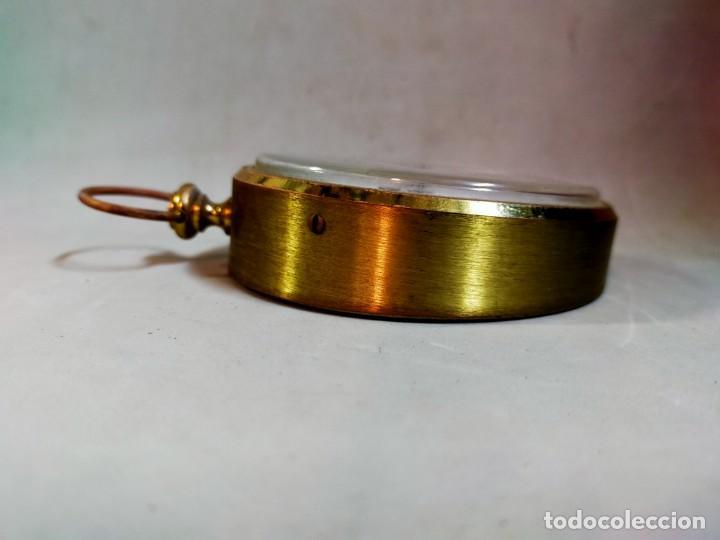Relojes de carga manual: RELOJ DE SOBREMESA CARGA MANUAL, IDEA, WEST GERMANY, EN LATON DORADO - Foto 7 - 194396890