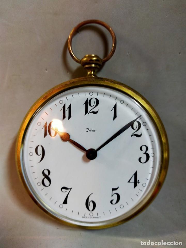 Relojes de carga manual: RELOJ DE SOBREMESA CARGA MANUAL, IDEA, WEST GERMANY, EN LATON DORADO - Foto 8 - 194396890