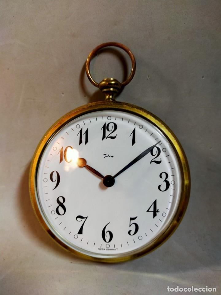 Relojes de carga manual: RELOJ DE SOBREMESA CARGA MANUAL, IDEA, WEST GERMANY, EN LATON DORADO - Foto 11 - 194396890