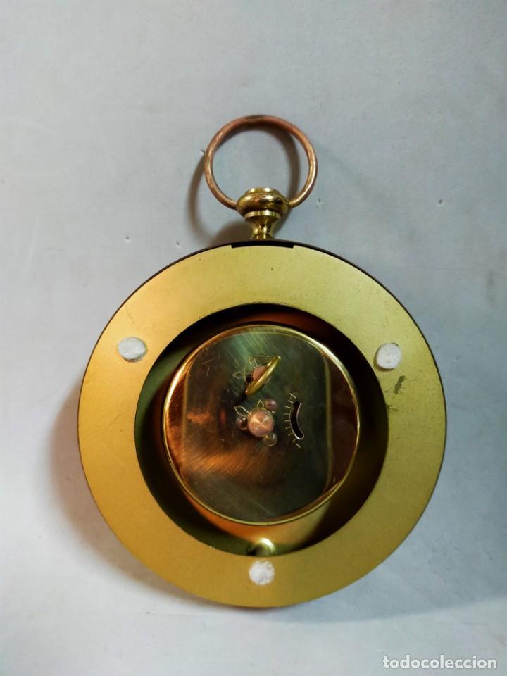 Relojes de carga manual: RELOJ DE SOBREMESA CARGA MANUAL, IDEA, WEST GERMANY, EN LATON DORADO - Foto 12 - 194396890