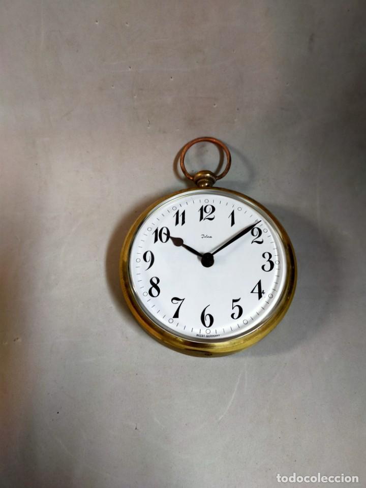 Relojes de carga manual: RELOJ DE SOBREMESA CARGA MANUAL, IDEA, WEST GERMANY, EN LATON DORADO - Foto 14 - 194396890