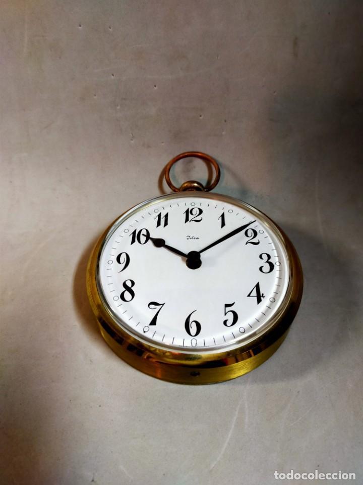 Relojes de carga manual: RELOJ DE SOBREMESA CARGA MANUAL, IDEA, WEST GERMANY, EN LATON DORADO - Foto 15 - 194396890