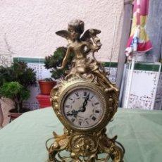 Relojes de carga manual: ANTIGUO RELOJ DE BRONCE DEL SIGLO XIX, FIGURA DE ÁNGEL. Lote 194492677