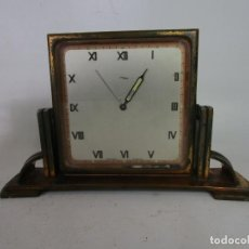 Relojes de carga manual: SWISS ART DECO TABLE CLOCK IN COPPER BY ARTHUR IMHOF IN THE 1930'S. Lote 194587496