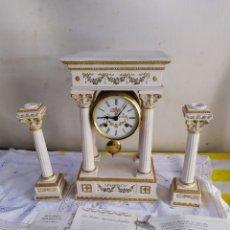 Relojes de carga manual: IMPORTANTE RELOJ FRANCÉS PORCELANA BISCUIT PINTADO A MANO MODELO EMPERATRIZ JOSEFINA. Lote 194634348