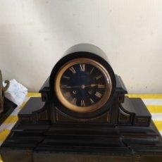 Relojes de carga manual: ESPECTACULAR RELOJ FRANCÉS EN MÁRMOL NEGRO ESFERA NEGRA SIGLO XIX. Lote 194649428