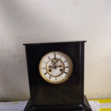 Relojes de carga manual: IMPORTANTE RELOJ BELGA MÁRMOL NEGRO ESCAPE VISTO XIX. Lote 194649708