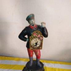 Relojes de carga manual: ESPECTACULAR Y RARO RELOJ FIGURA POLICROMADA RUSO SIGLO XIX. Lote 194678370