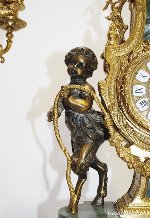 Relojes de carga manual: RELOJ CON GUARNICIÓN BRONCE Y MÁRMOL, ESTILO IMPERIO - Foto 7 - 194754168