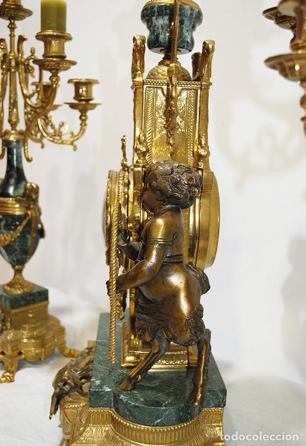 Relojes de carga manual: RELOJ CON GUARNICIÓN BRONCE Y MÁRMOL, ESTILO IMPERIO - Foto 10 - 194754168