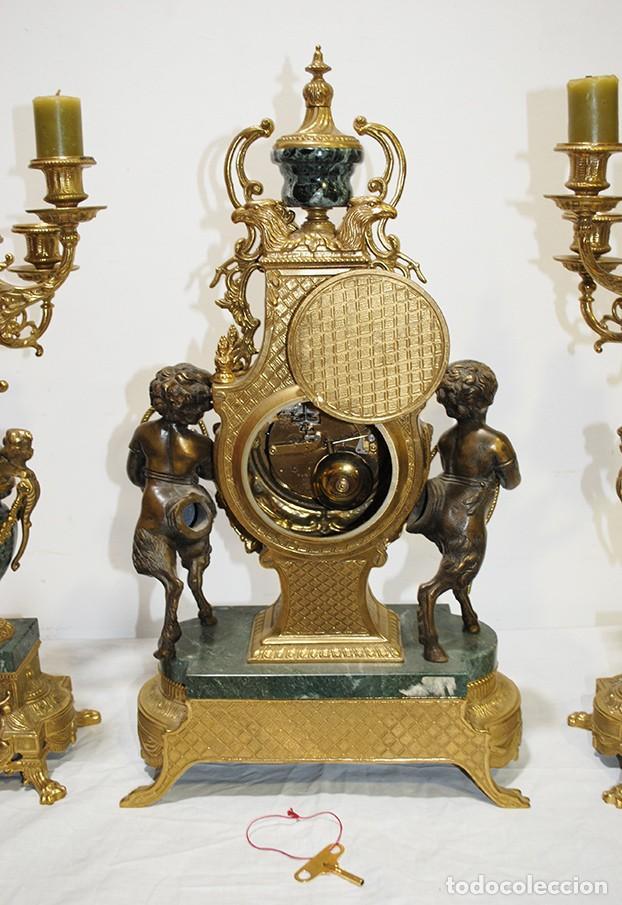 Relojes de carga manual: RELOJ CON GUARNICIÓN BRONCE Y MÁRMOL, ESTILO IMPERIO - Foto 12 - 194754168