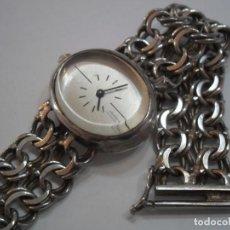 Relojes de carga manual: RELOJ DE PULSERA DE PLATA DE LEY MARCA THERMIDOR, AÑOS 70-80, CON PULSERA DE PLATA. Lote 194787863
