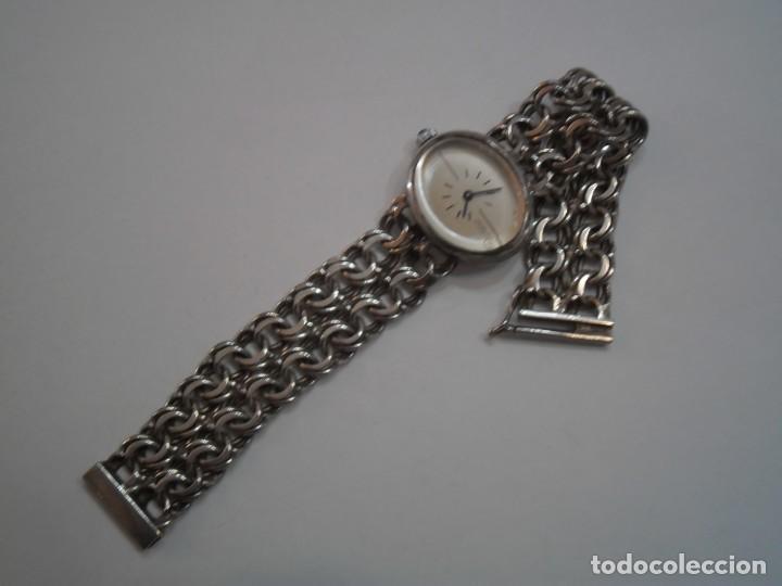 Relojes de carga manual: Reloj de Pulsera de Plata de Ley marca THERMIDOR, años 70-80, con pulsera de Plata - Foto 2 - 194787863