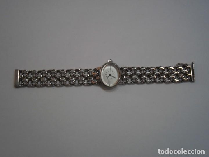 Relojes de carga manual: Reloj de Pulsera de Plata de Ley marca THERMIDOR, años 70-80, con pulsera de Plata - Foto 3 - 194787863
