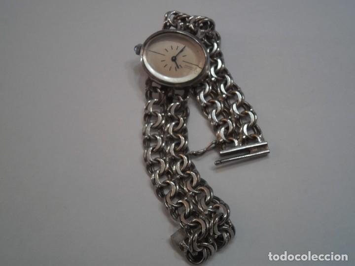 Relojes de carga manual: Reloj de Pulsera de Plata de Ley marca THERMIDOR, años 70-80, con pulsera de Plata - Foto 5 - 194787863