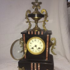 Relojes de carga manual: PRECIOSO RELOJ DE MARMOL SELLO 1878!. Lote 194891846