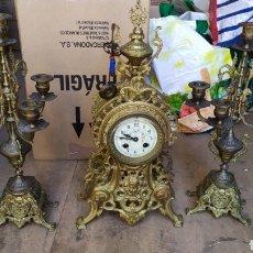 Relojes de carga manual: IMPRESIONANTE RELOJ FRANCÉS LUIS XV CON GUARNICIONES BRONCE SIGLO XIX. Lote 194967863