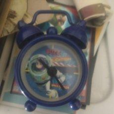Relojes de carga manual: RELOJ SOBREMESA NIÑO TOY STORY BUZZ LIGHTYEAR CON PRECINTO ORIGINAL. Lote 194974987