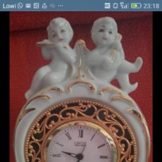 Relojes de carga manual: RELOJ PORCELANA SOBREMESA A CUERDA. Lote 195045588
