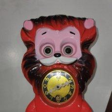 Relojes de carga manual: ANTIGUO RELOJ DE CUERDA EN FORMA DE LEÓN MI KEN AÑOS 60 FABRICADO EN JAPÓN. Lote 195133883