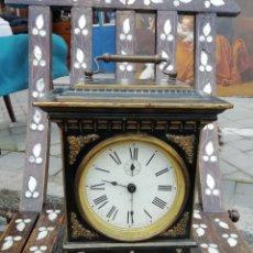 Relojes de carga manual: CARRIAGE CLOCK SIGLO XX CON ALARMA MUSICAL. Lote 195239538