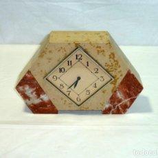 Relojes de carga manual: RELOJ ART-DECÓ CON CAJA DE MÁRMOL.PARA REPARAR.. Lote 195247261
