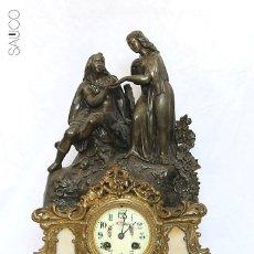 Relojes de carga manual: RELOJ SOBREMESA CON FIGURA. Lote 195265682