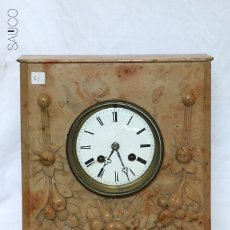 Relojes de carga manual: RELOJ SOBREMESA DE MARMOL. Lote 195266776