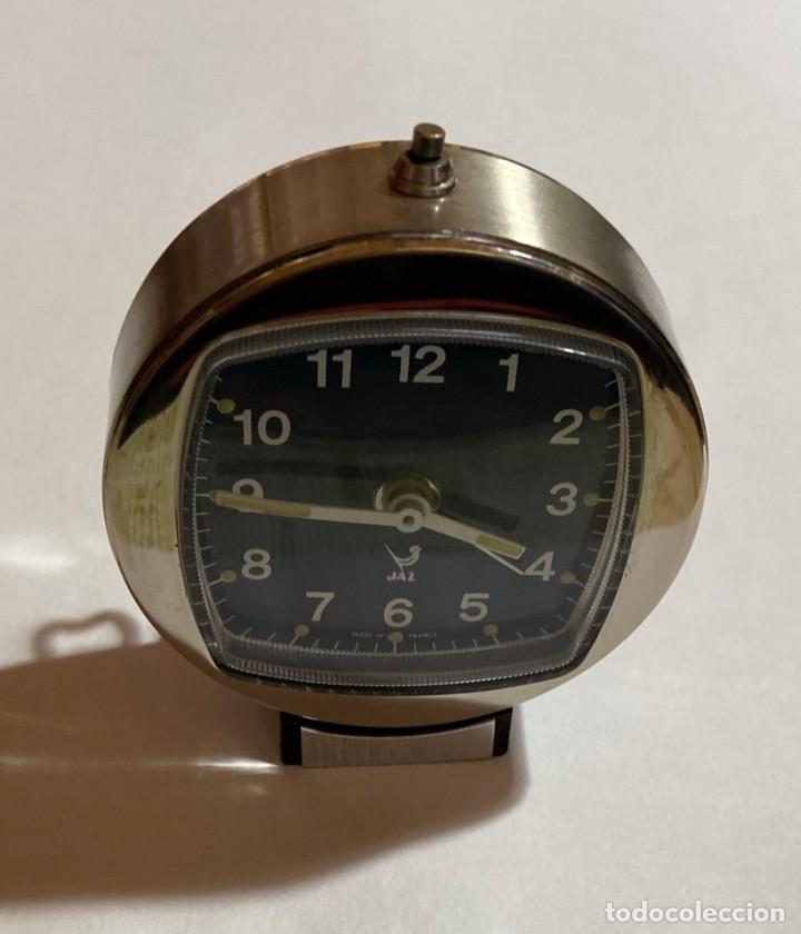 Relojes de carga manual: RELOJ ALARMA SOBREMESA DE CUERDA MARCA JAZZ - 62 M/M. Ø - Foto 4 - 195300155