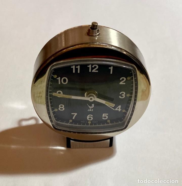 Relojes de carga manual: RELOJ ALARMA SOBREMESA DE CUERDA MARCA JAZZ - 62 M/M. Ø - Foto 5 - 195300155