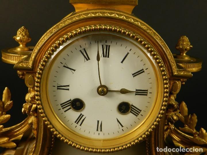 Relojes de carga manual: RELOJ SOBREMESA ORO SIGLO XIX - Foto 3 - 195305827