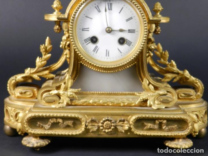 Relojes de carga manual: RELOJ SOBREMESA ORO SIGLO XIX - Foto 6 - 195305827