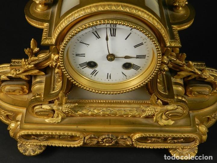Relojes de carga manual: RELOJ SOBREMESA ORO SIGLO XIX - Foto 7 - 195305827